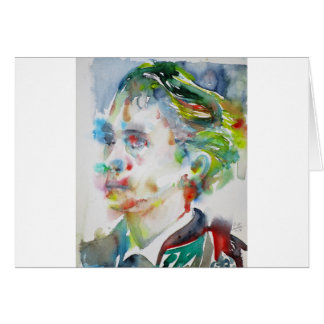 leopold von sacher masoch - watercolor portrait card