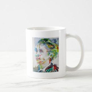 leopold von sacher masoch - watercolor portrait coffee mug