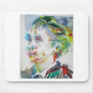 leopold von sacher masoch - watercolor portrait mouse pad
