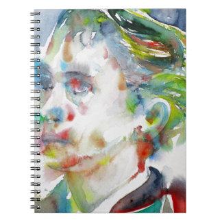 leopold von sacher masoch - watercolor portrait notebooks