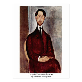 Leopold Zborowski-Portrait By Amedeo Modigliani Postcard
