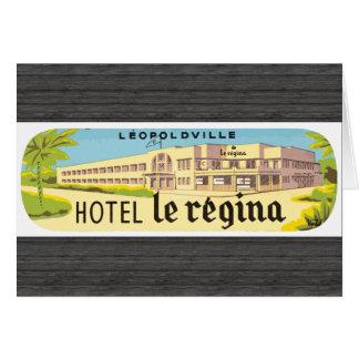 Leopoldville Hotel Le Regina, Vintage Greeting Card