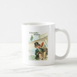 Leprechaun Airplane Harp of Erin Coffee Mug