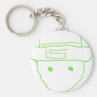 Leprechaun Amateur Sketch Basic Round Button Key Ring