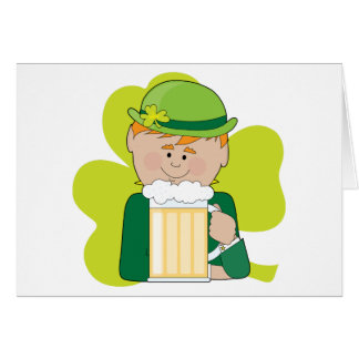 Leprechaun And Beer Card