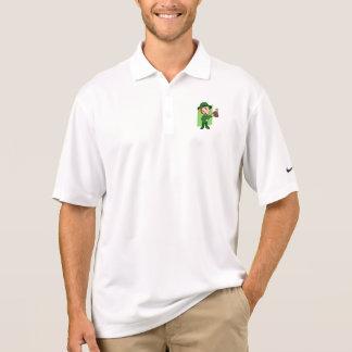 Leprechaun cartoon polo shirt