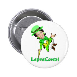 Leprechaun Condoleezza St. Patrick's Day 6 Cm Round Badge