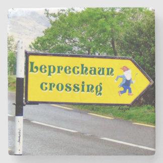 Leprechaun, Crossing, Sign, Dingle, Kerry, Ireland Stone Coaster