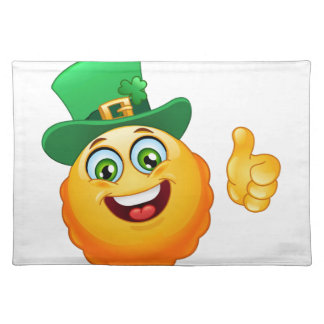 leprechaun emoji placemat