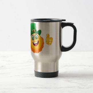 leprechaun emoji travel mug