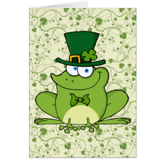 LEPRECHAUN FROG GREETING CARD