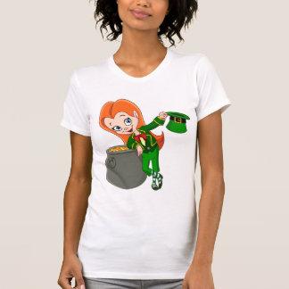 Leprechaun Girl Womens T-Shirt