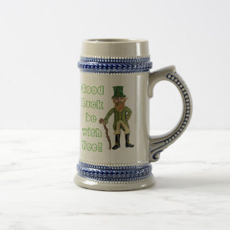 "Leprechaun, ""Good Luck be withYee!"" Stien Beer Stein"