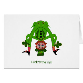 Leprechaun Greeting Card - St. Patrick's Day