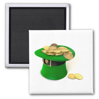 Leprechaun Hat filled with gold Magnet