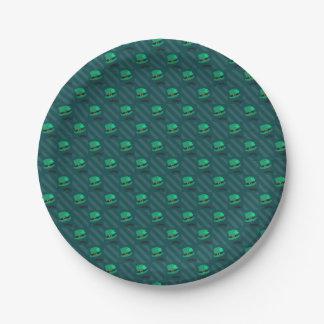 Leprechaun Hat & Shamrock St Patricks Day Pattern Paper Plate