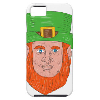 Leprechaun Head Front Drawing iPhone 5 Case