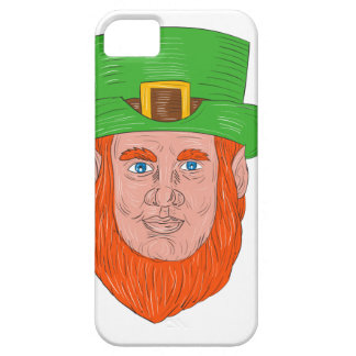 Leprechaun Head Front Drawing iPhone 5 Cover