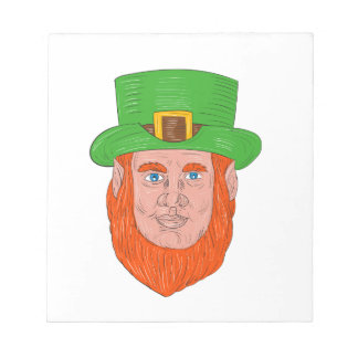 Leprechaun Head Front Drawing Notepad