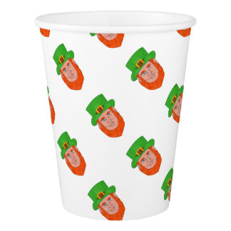 Leprechaun Head Front Drawing Paper Cup