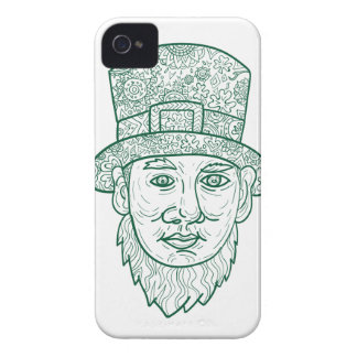 Leprechaun Head Front Mandala iPhone 4 Covers