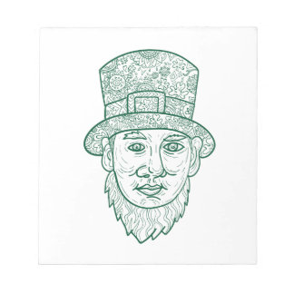 Leprechaun Head Front Mandala Notepad