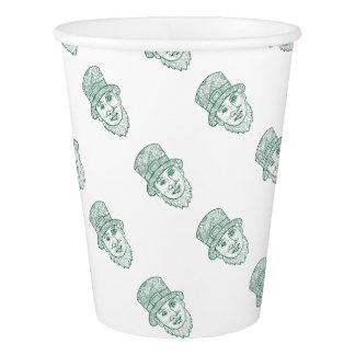 Leprechaun Head Front Mandala Paper Cup