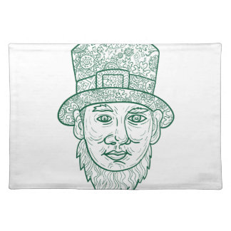 Leprechaun Head Front Mandala Placemat