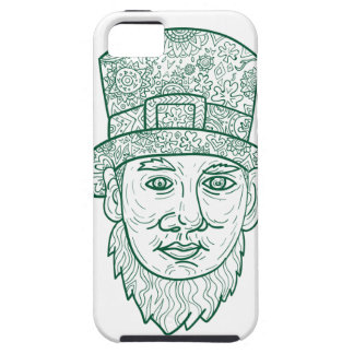Leprechaun Head Front Mandala Tough iPhone 5 Case