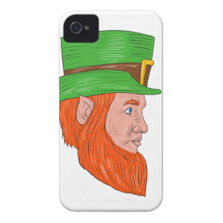 Leprechaun Head Side Drawing Case-Mate iPhone 4 Case