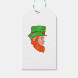 Leprechaun Head Side Drawing Gift Tags