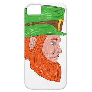 Leprechaun Head Side Drawing iPhone 5 Case