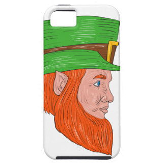 Leprechaun Head Side Drawing iPhone 5 Case