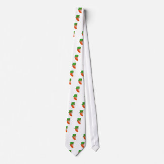 Leprechaun Head Side Drawing Tie