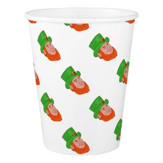 Leprechaun Head Three Quarter View Drawing Paper Cup