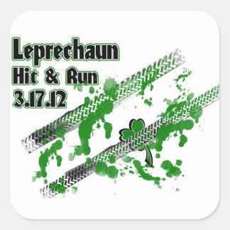 Leprechaun Hit & Run 3.17.12 Square Sticker