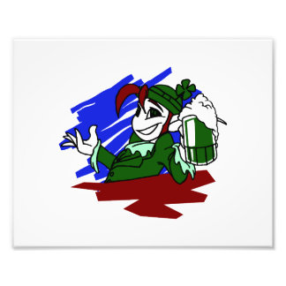 leprechaun holding green beer st pats graphic.png photograph