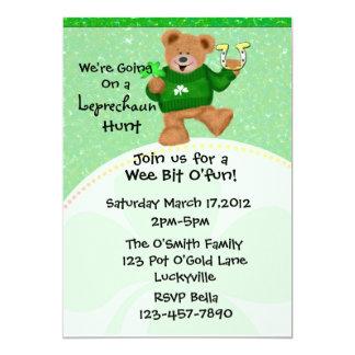 """Leprechaun Hunt  Invitation 5"""" X 7"""" Invitation Card"""