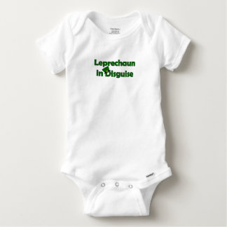 Leprechaun in Disguise for Saint Patrick's Day Baby Onesie