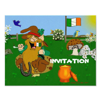 Leprechaun 11 Cm X 14 Cm Invitation Card