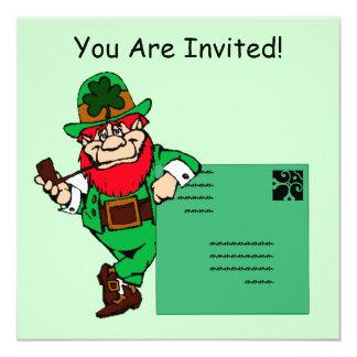 Leprechaun Lean St. Patrick's Day Party Invitation