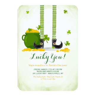 Leprechaun Legs St. Patrick's Day Invitation