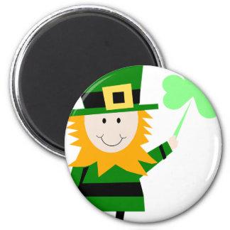 Leprechaun Lucky Clover Man Magnet