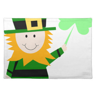 Leprechaun Lucky Clover Man Placemat