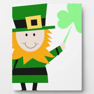 Leprechaun Lucky Clover Man Plaque
