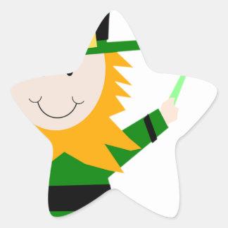 Leprechaun Lucky Clover Man Star Sticker