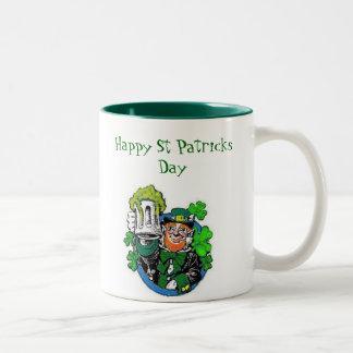 leprechaun party, Happy St Patricks Day Mug
