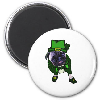 Leprechaun Pug Magnet