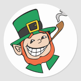 Leprechaun Round Sticker