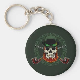 Leprechaun Skull Keychain